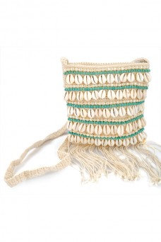 Azure Fringe Handbag