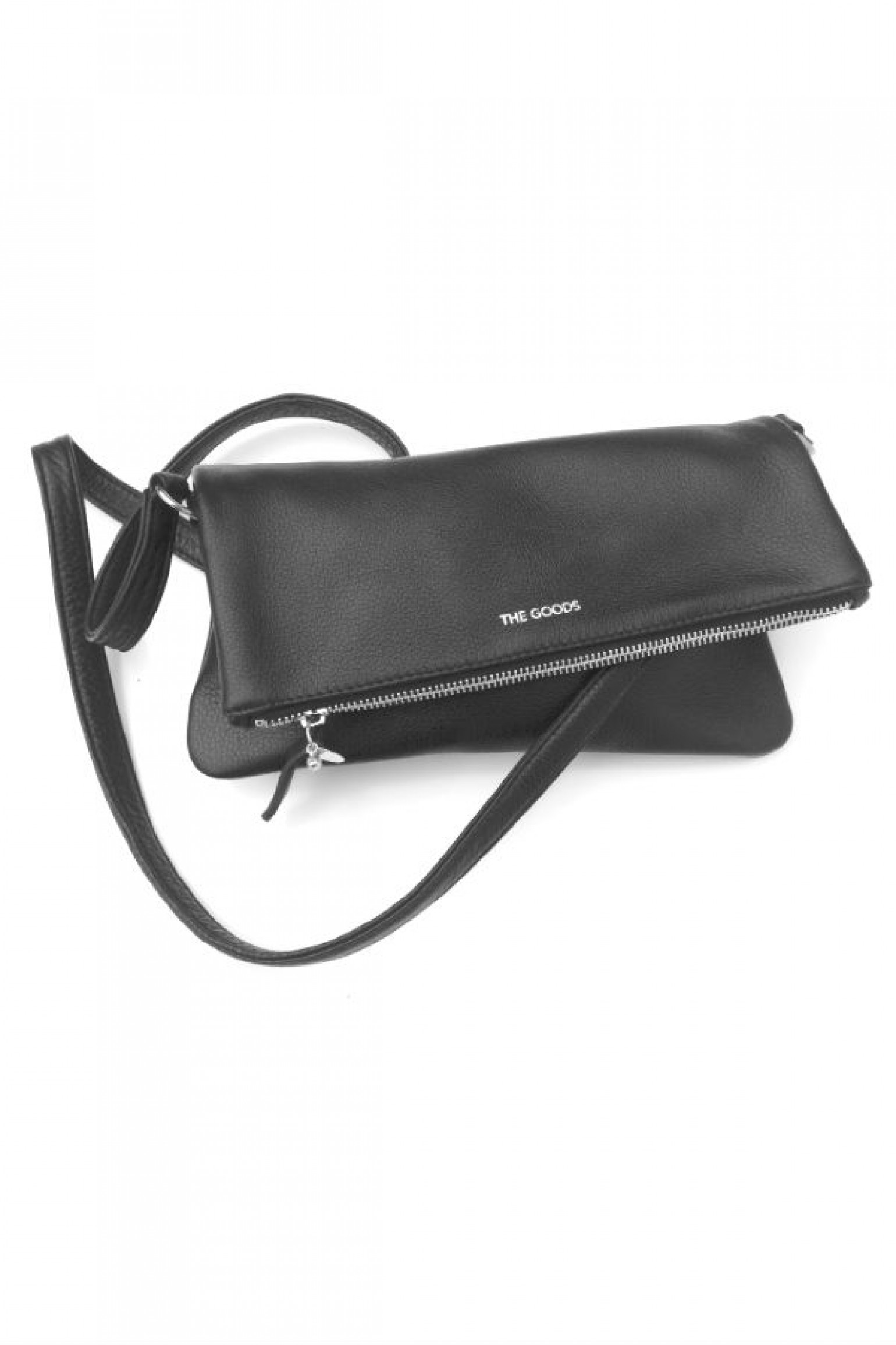 The Goods Co Leather Cross Body Bag - Black