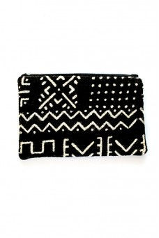 Malawian Mud Cloth Cosmetic Purse