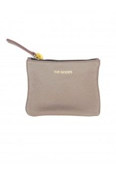 The Goods Co Mini Latte Leather Clutch