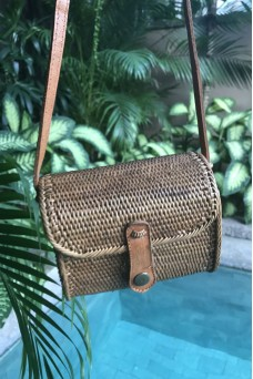 Alilia The Label Square Festival Rattan Bag