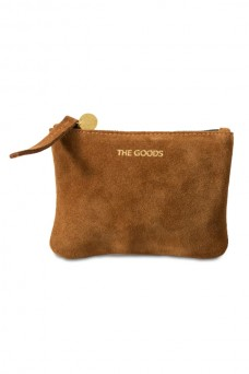 The Goods Co Mini Tan Suede Clutch