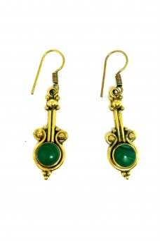 Alilia The Label Gold Emerald Drops