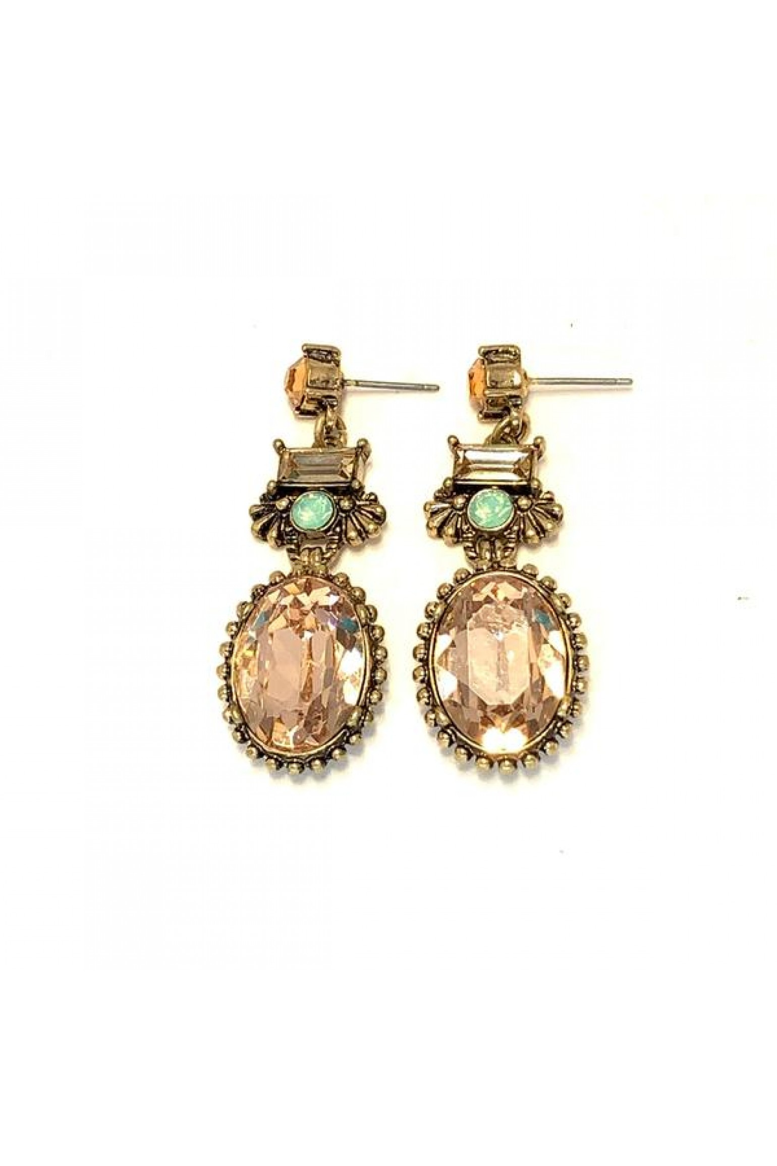 Zafino Tia Peach Drop Earrings