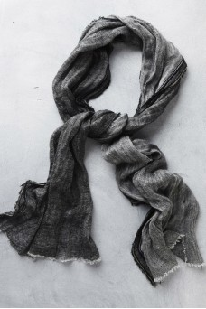 Atoliya Leyla Linen Scarf Charcoal