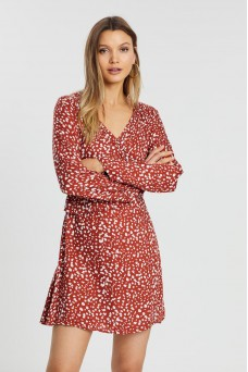 All About Eve Mini Bloom Twist Dress