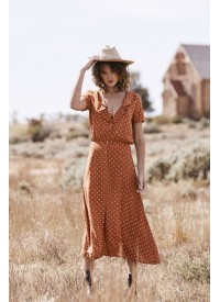 Auguste The Label Lilly Lady Dress Rust