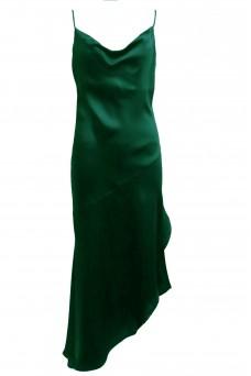 Amazon Slip Dress with Diagonal Hem