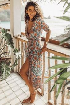 Arnhem Marigold Wrap Dress
