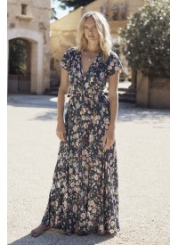 Auguste The Label Spring Rose Frill Neck Wrap Maxi Dress