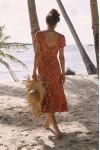 Auguste The Label Agnes Fleur Midi Dress