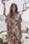 Auguste The Label Dahlia Cascade Wrap Mini Dress