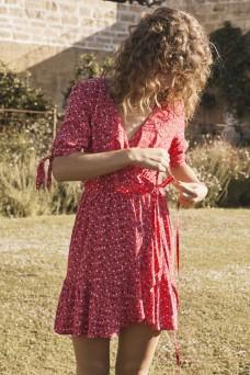 Auguste The Label Daphne Crop SleeveWrap Mini Dress