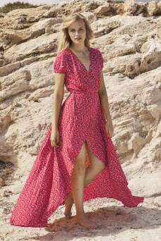 Auguste The Label Daphne Easy Days Wrap Maxi Dress
