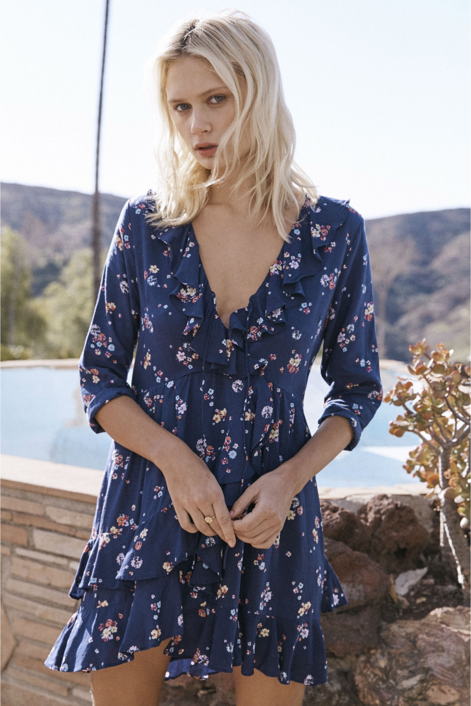 Auguste The Label Desert Dandelion Grace Mini Dress