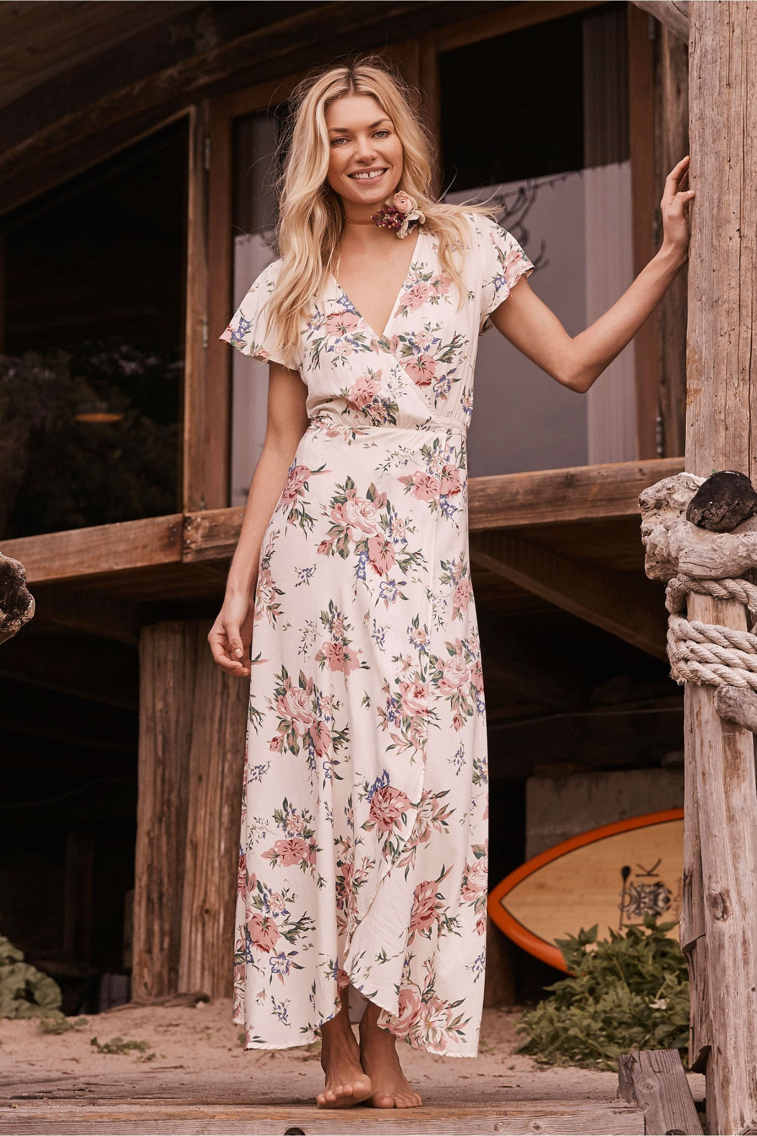 Auguste The Label Ella Wrap Maxi Dress
