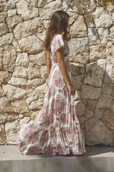 Auguste Provence Faux Wrap Maxi Dress