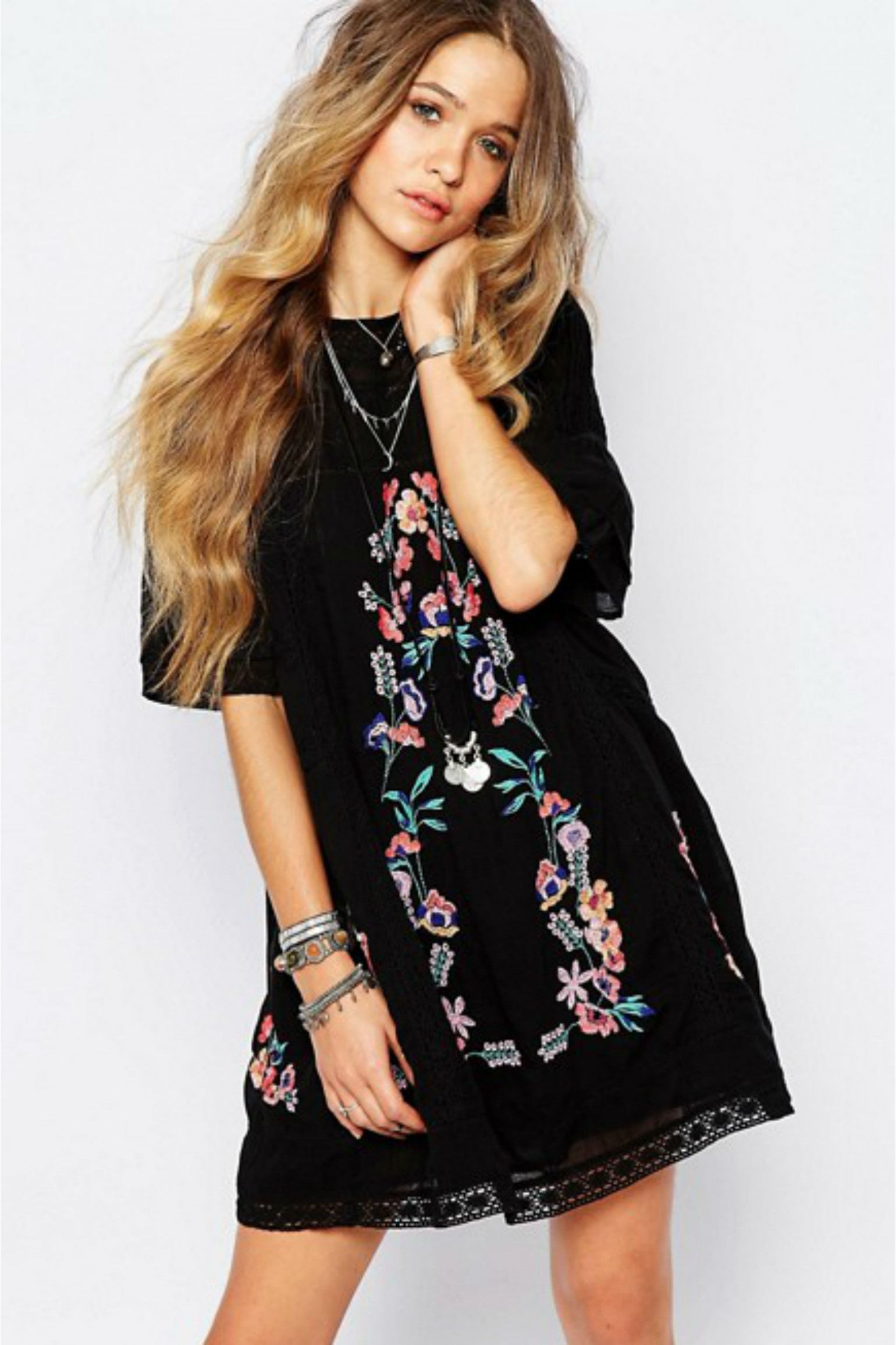 Free People Perfectly Victorian Mini Dress
