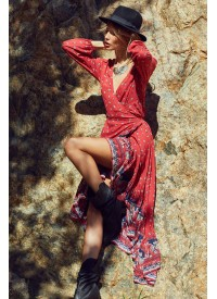 House of Skye Wrap Desert Rose Dress