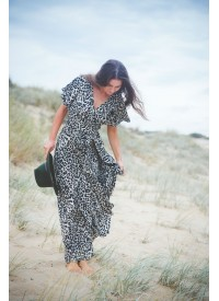 Leopard Wrap Dress
