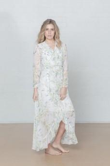 New Romantic Maxi Wrap Dress