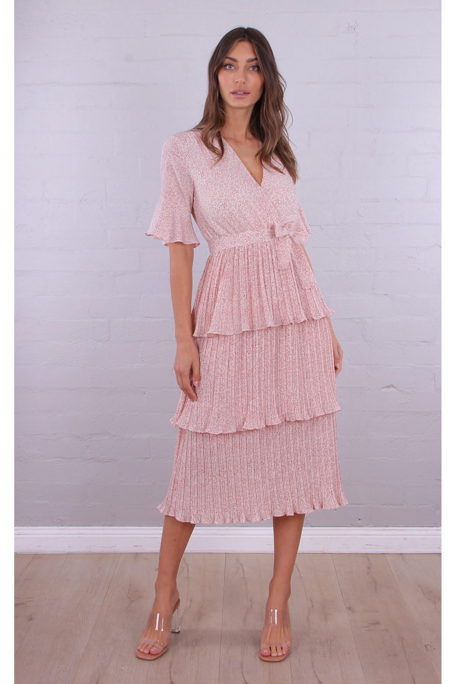 Pretty in Pink Midi Dress