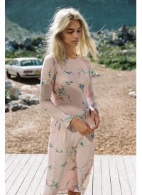 Auguste Dawn Spencer Long Sleeve Slip Midi Dress