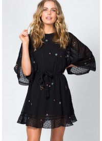 Three of Something Dark Tale Worthy Dress