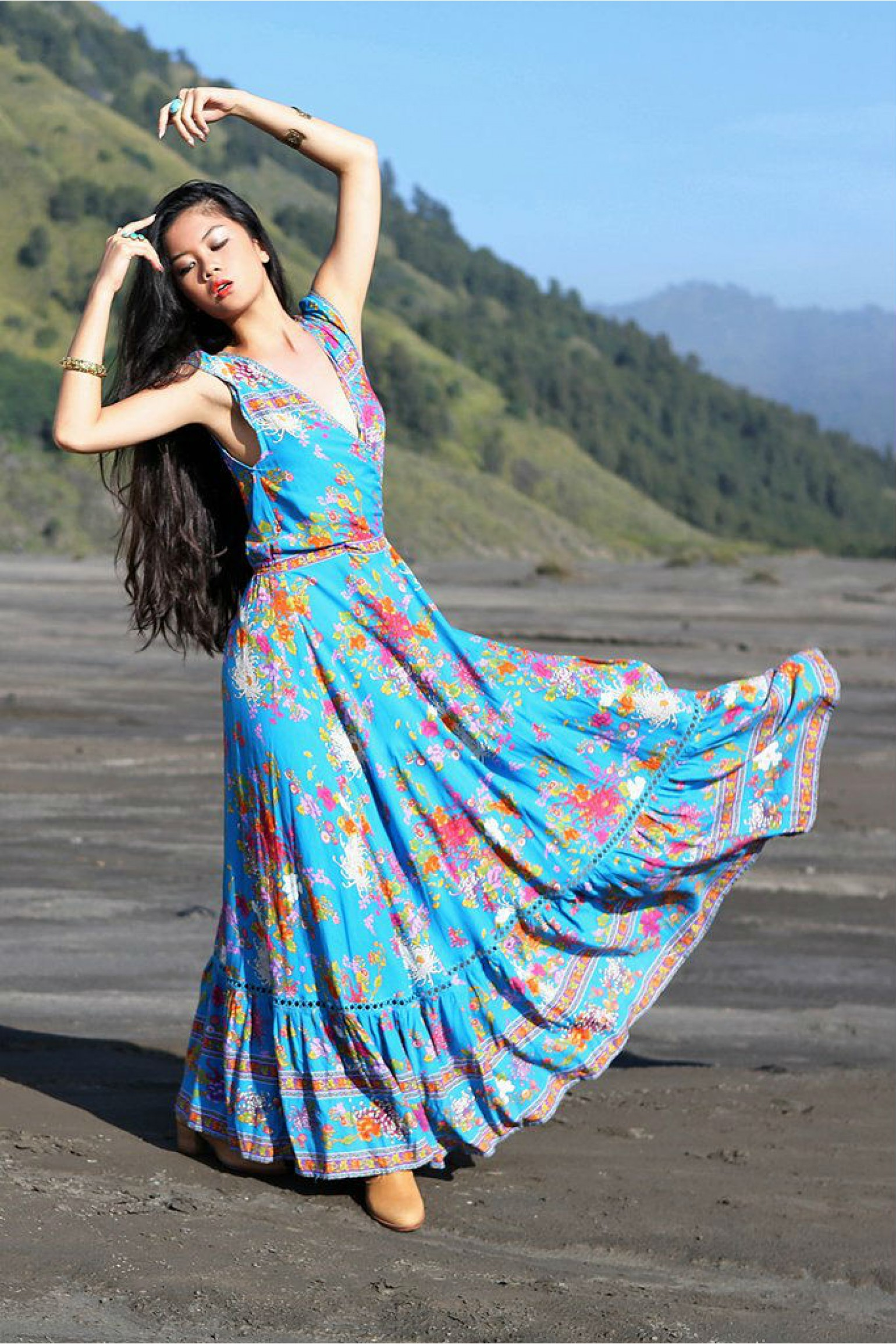 Tulle and Batiste Lola Wrap Maxi Dress