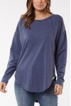 Foxwood Mackenzie Long Sleeve Crew Navy
