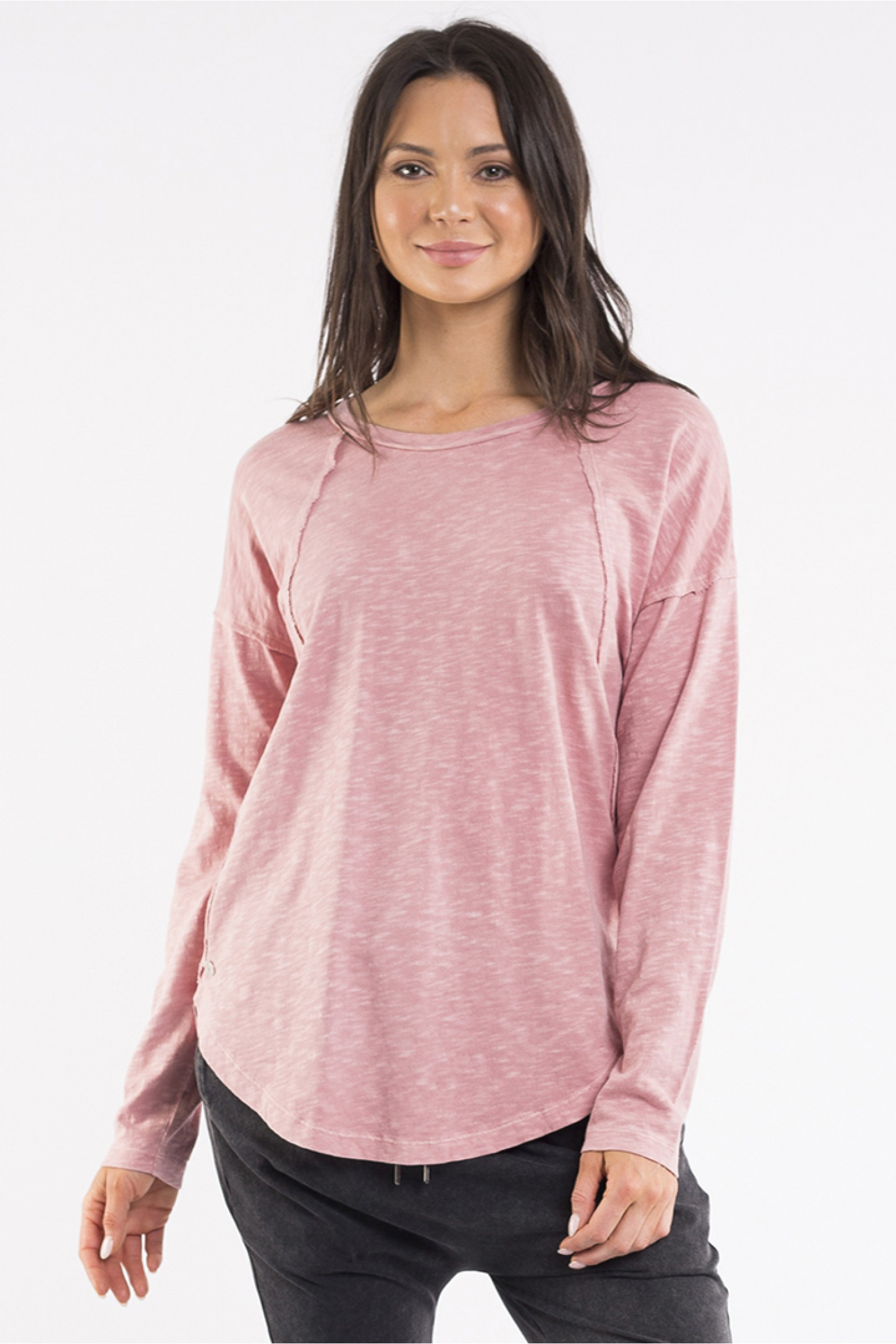 Foxwood Mackenzie Long Sleeve Crew Rose Pink