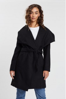 All About Eve Lacey Wrap Waterfall Collar Jacket