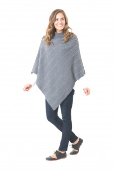 Elm Nickel Stripe Poncho