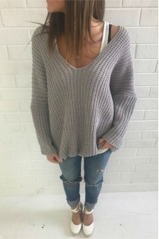 Oversized Knit Grey