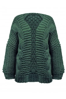 Emerald Green Chunky Oversized Cardigan