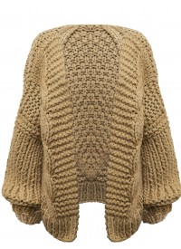 Tan Chunky Oversized Cardigan