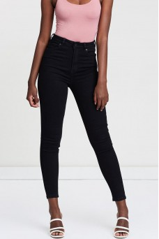Silent Theory Vice High Skinny Jean Jet Black