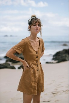 Opia Byron Bay Teak Playsuit