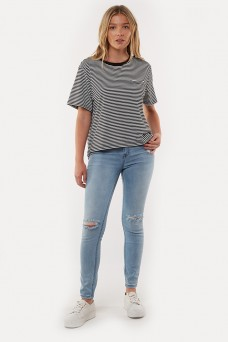 Silent Basics Flow Tee Stripe
