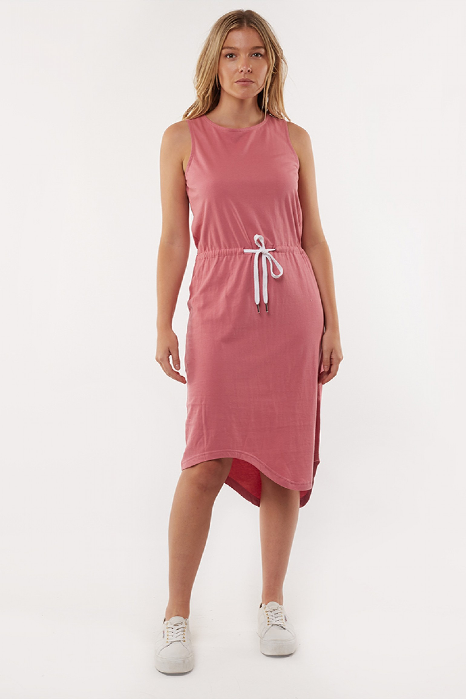 Silent Waisted Midi Dress Rose