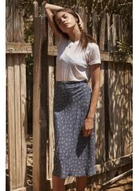 Auguste The Label Jasmine Bias Slip Midi Skirt
