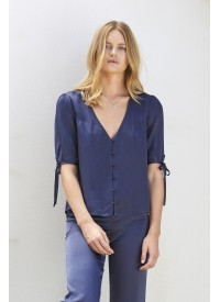 Auguste The Label Midnight Luxe Blouse