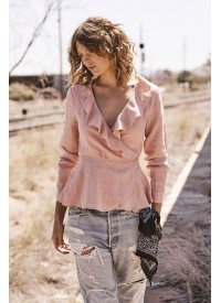 Auguste The Label Harvey Wrap Blush Top