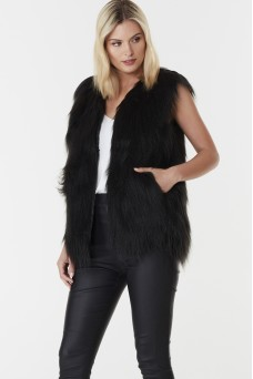Everly Collective Windsor Faux Fur Vest PRE ORDER