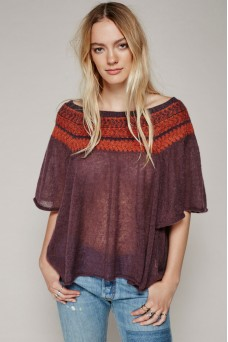 Free People Lock Lomand Flutter Sleeve Sweater