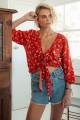 Kivari Quinn Floral Tie Frill Top