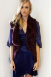 Mode and Affaire Collier Fur Vest Mulberry