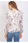 Three of Something Vintage Floral Demi Blouse