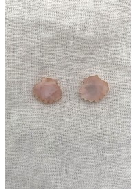 Hey Ronnie Soft Pink Shell Earrings