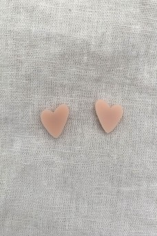Hey Ronnie Soft Pink Heart Earrings
